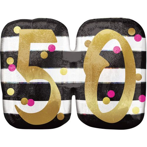 Pink & Gold 50th Birthday Holographic SuperShape